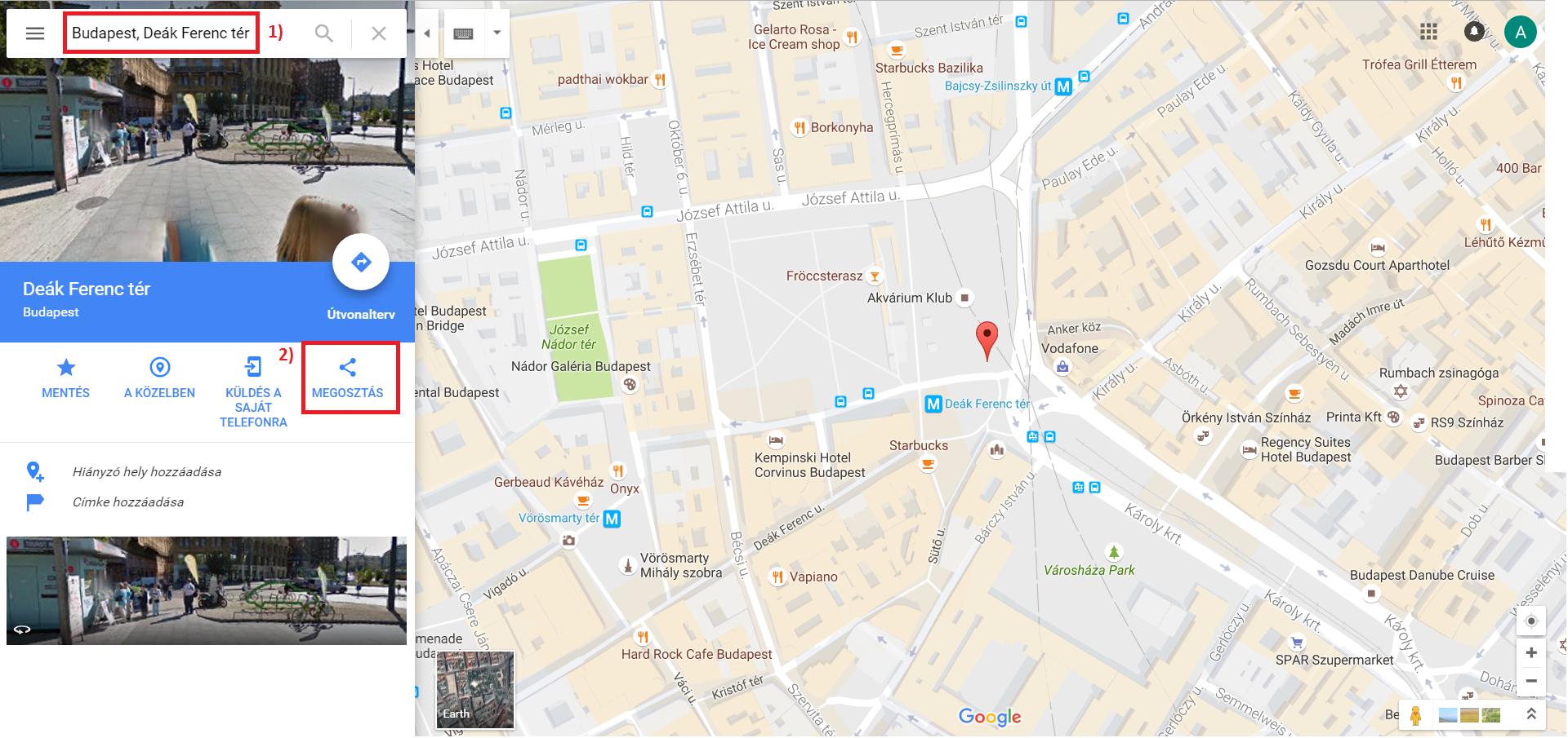 Google Térkép beágyazása