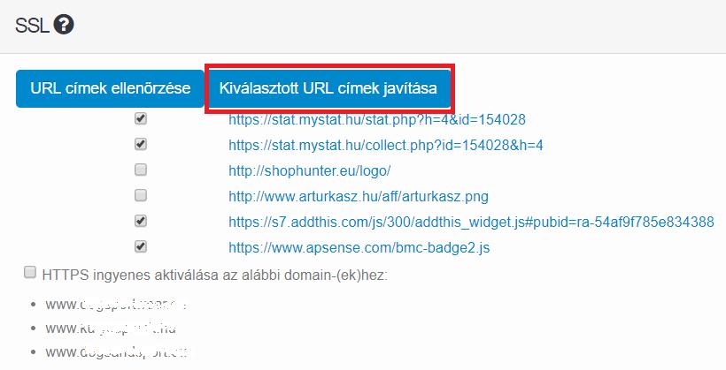URL címek javítása