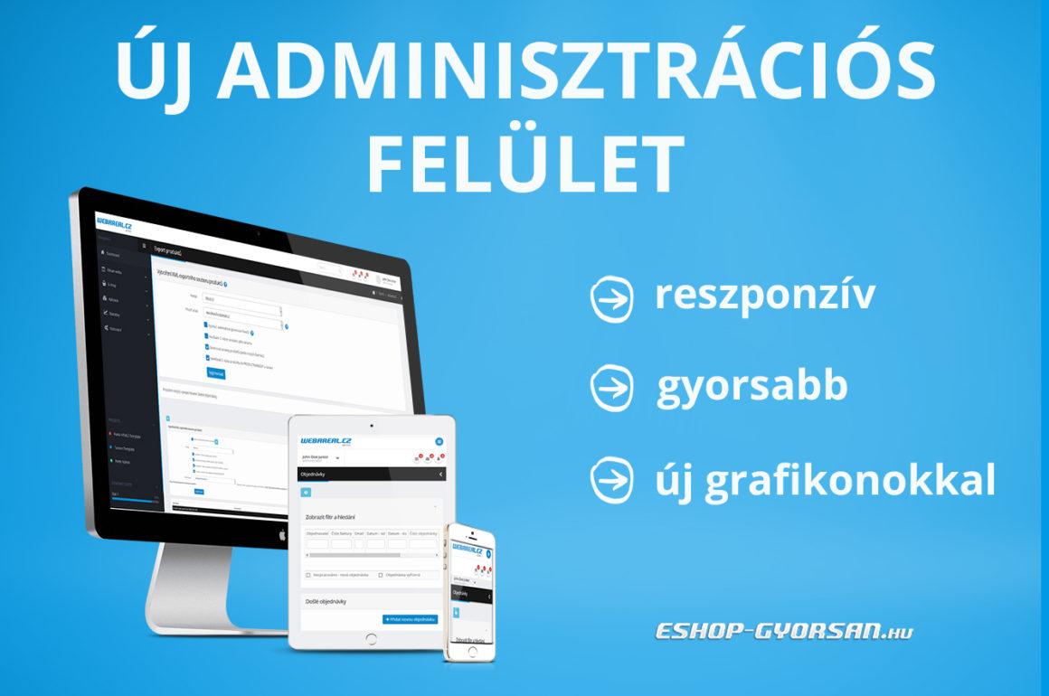 Új adminisztrációs felület