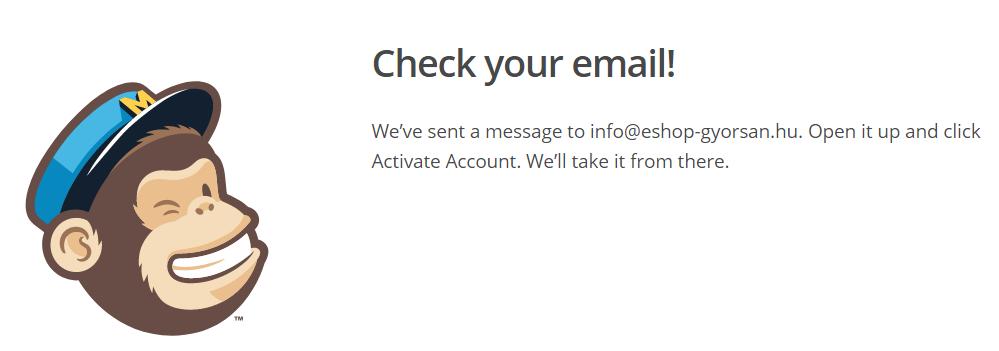 Regisztrációs e-mail kiküldése