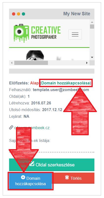 Domain hozzákapcsolása