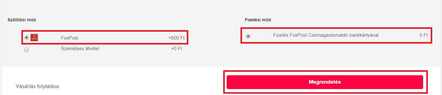 FoxPost a webshopban