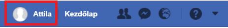Facebook profil megnyitása