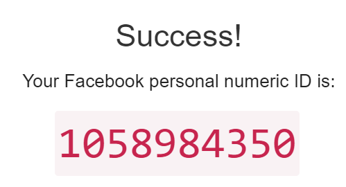 Facebook ID másolása