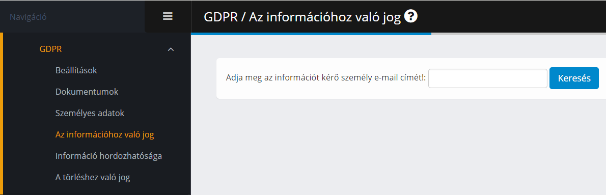 GDPR - Információhoz való jog