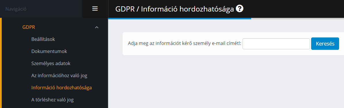GDPR - információ hordozhatósága