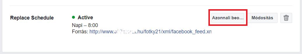 Facebook feed tartalmának azonnali frissítése
