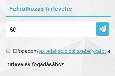 Hírlevél widget a webshopban