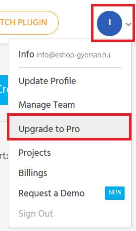 Előfizetés a Pro verzióra